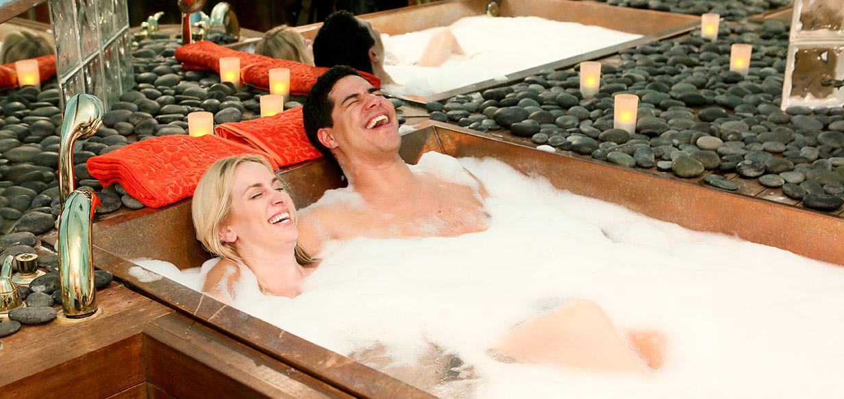 couples tub soaking anniversary